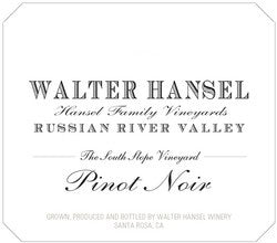 Walter Hansel 2018 'The South Slope' Pinot Noir
