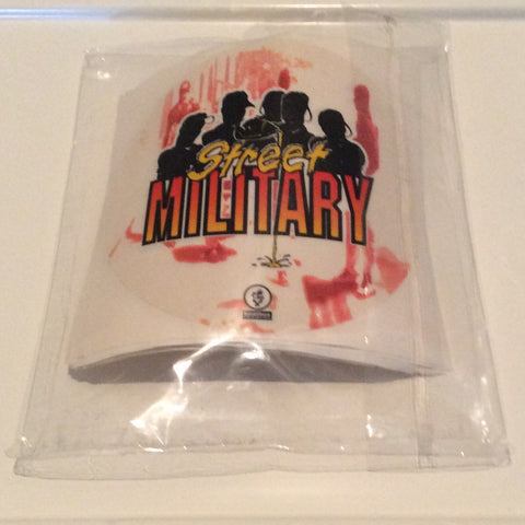 STREET MILITARY BRAND POUR-UP STICKERS