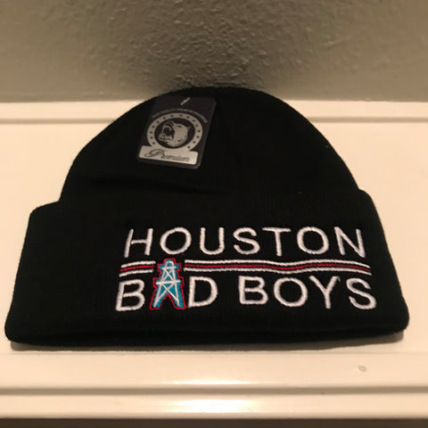 HOUSTON BAD BOYS BLACK BEANIES