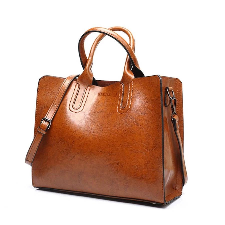 Highway Run Leather Handbag