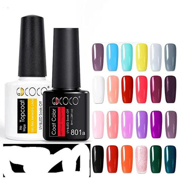 Base and Top Coat Nail Gel Polish