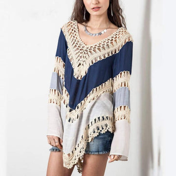 Cozy Day Hollow Out Blouse