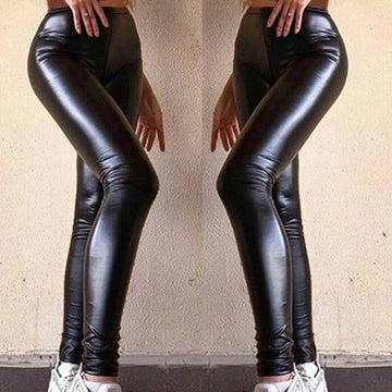 Shining Queen Faux Leather Tights