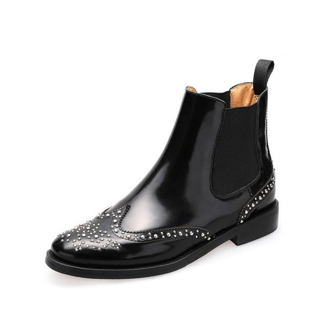 Over The Limit Leather Boots