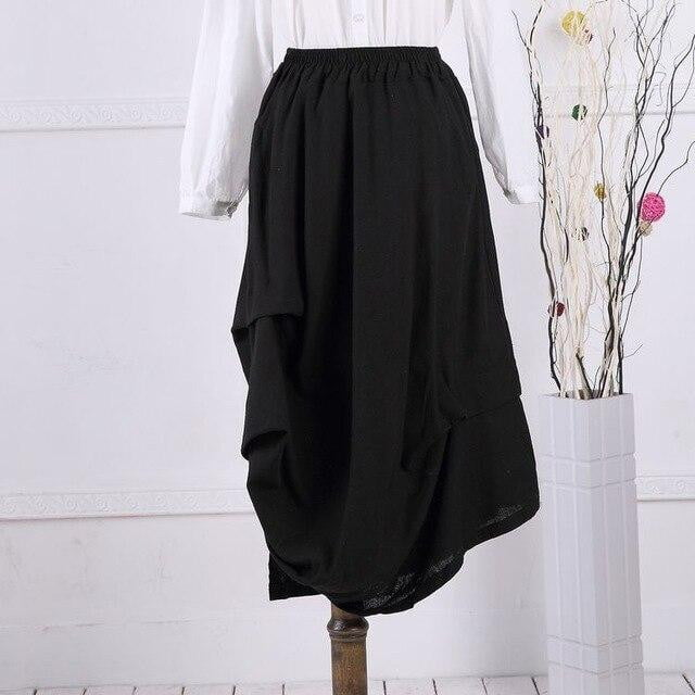 Stormy Weather Asymmetrical Skirt