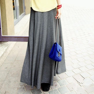 Midnight Express Pleated Maxi Skirt