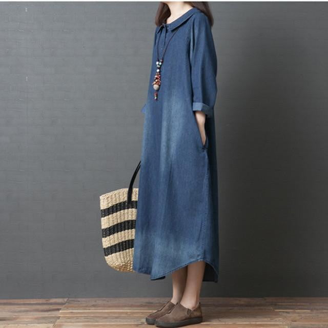 Don't Bother Denim Maxi Dress
