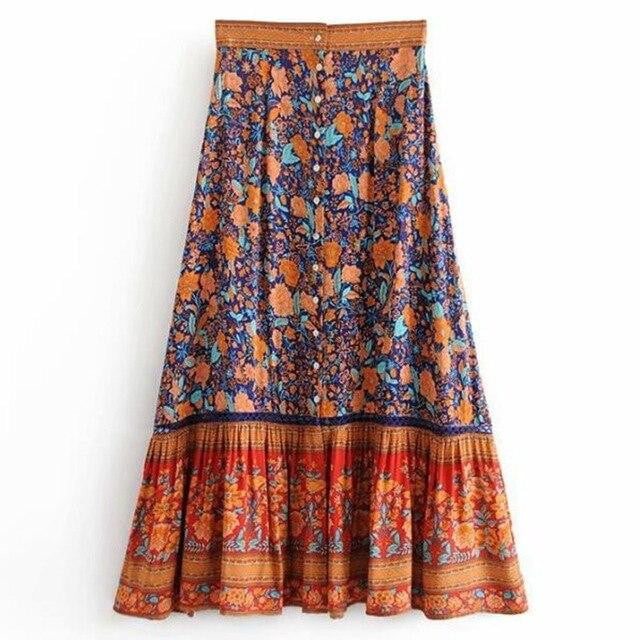 Floral Addiction Long Skirt