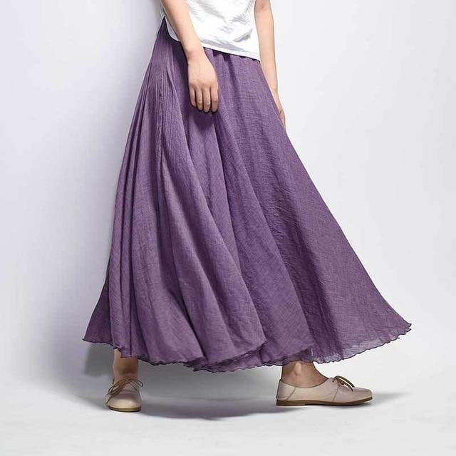 Soft Twirl Linen Skirt