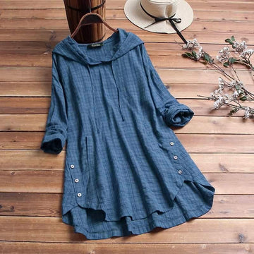 All The Buttons Hooded Dress