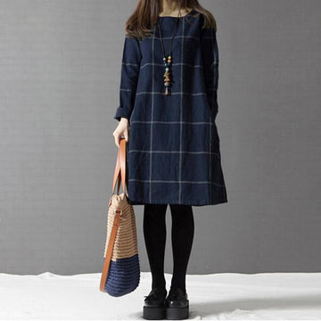 Looking Forward Plaid Dress