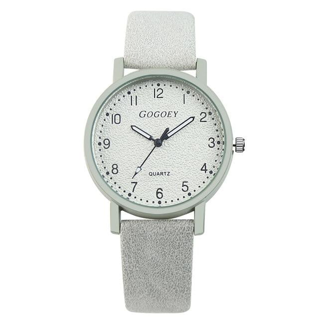 Running Late Leather Watch