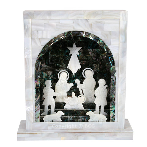 Nativity Set - Mother of Pearl