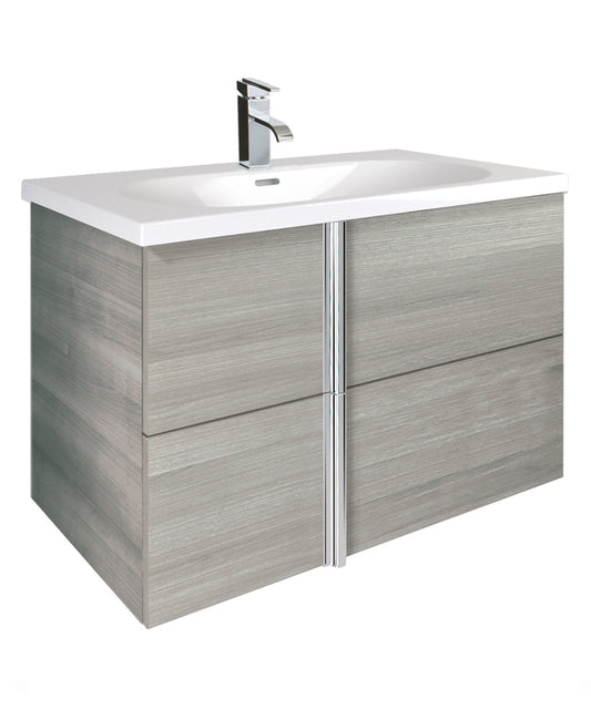 Sonas Avila Sandy Grey 80cm Wall Hung Vanity Unit