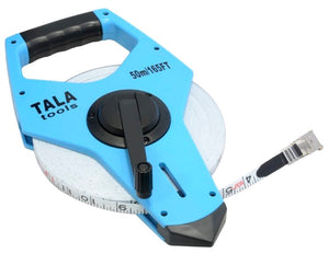 Tala 50m(165ft) Fibreglass Open Frame Long Tape