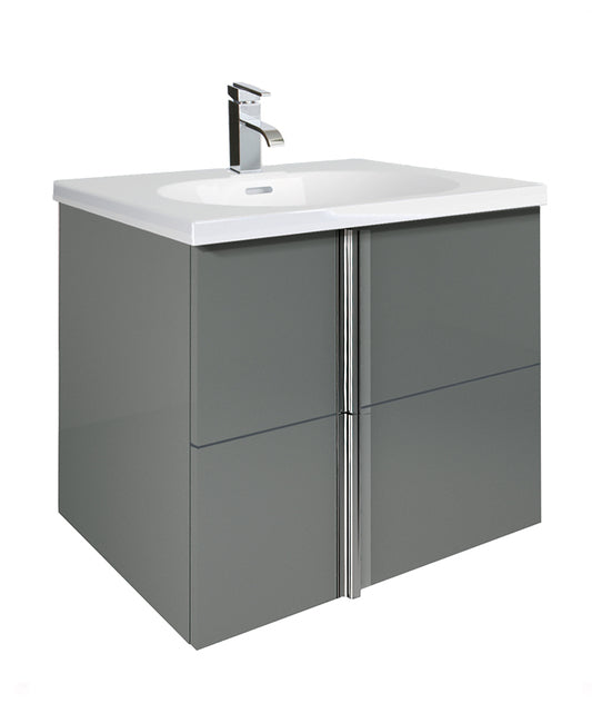 Sonas Avila Gloss Grey 60cm Wall Hung Vanity Unit