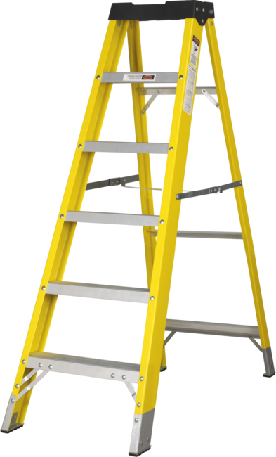 5 Step Single-Sided Fibreglass Step Ladder