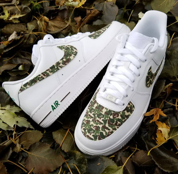 Nike AF1 Custom 'Bape' Green Edition