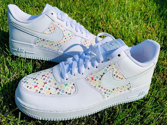 Nike AF1 Custom 'Louis Vuitton' Printed Edition
