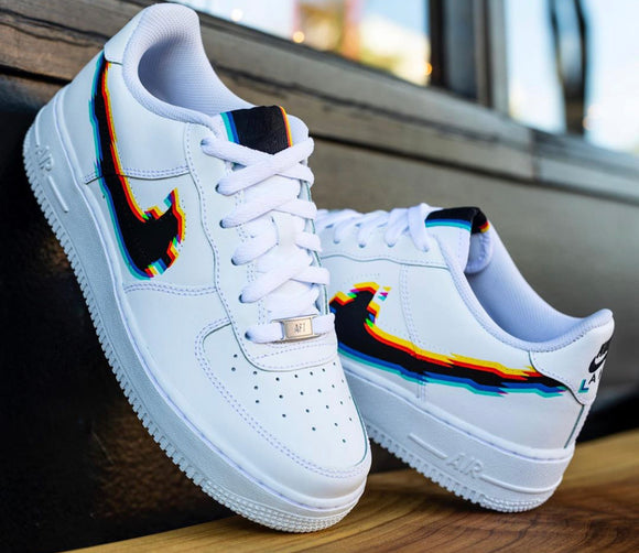 Nike AF1 Custom 'Glitch' Edition