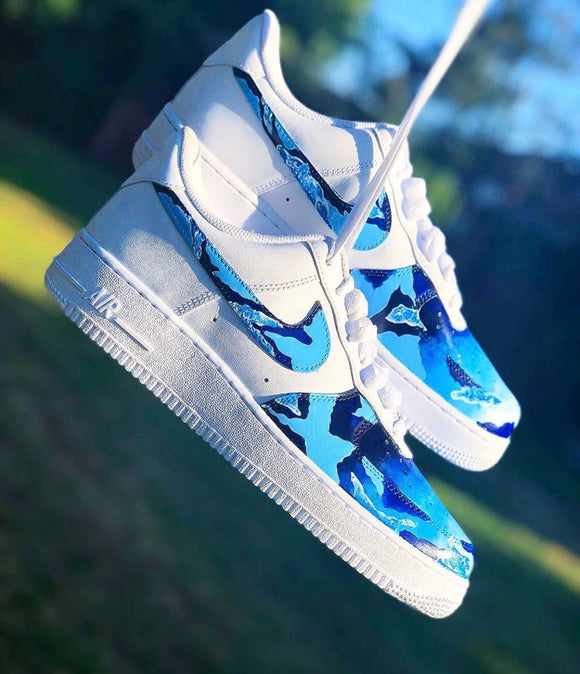 Nike AF1 Custom 'Waves' Edition