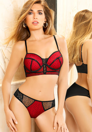 Black / Red Bra 20427