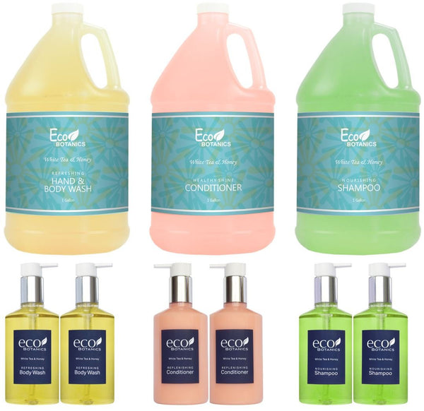 Eco Botanics Gallon & Dispenser Set | Reusable Plastic Bottles (Complete Set)