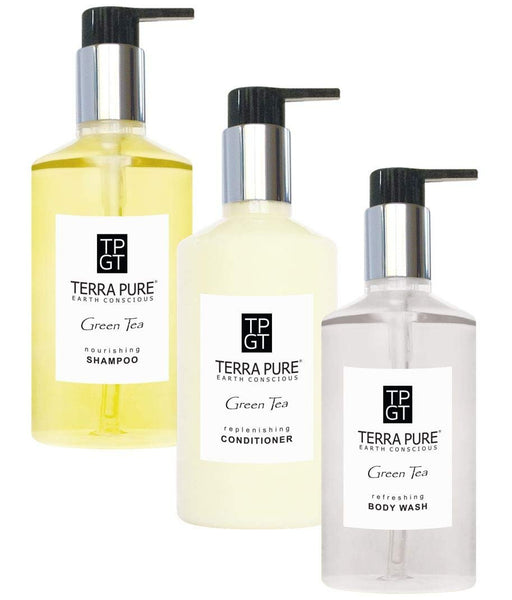 Terra Pure Green Tea Amenities Shower Soap Set | 10.14 oz. | (1 of Each)