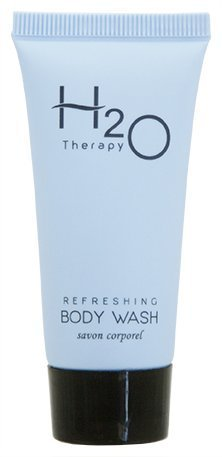 H2O Therapy Body Wash Soap, Travel Size Hotel Hospitality, 0.85 oz (Case of 20)