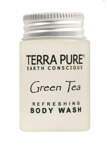 Terra Pure Body Wash, Travel Size Hotel Amenities, 1 oz. (Case of 20)