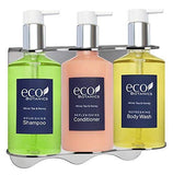 Eco Botanics Amenities Dispenser | Shower Soap Set | 10.14 oz. | Tamper Proof Wall-Mounted Locking Bracket | (1 of Each)