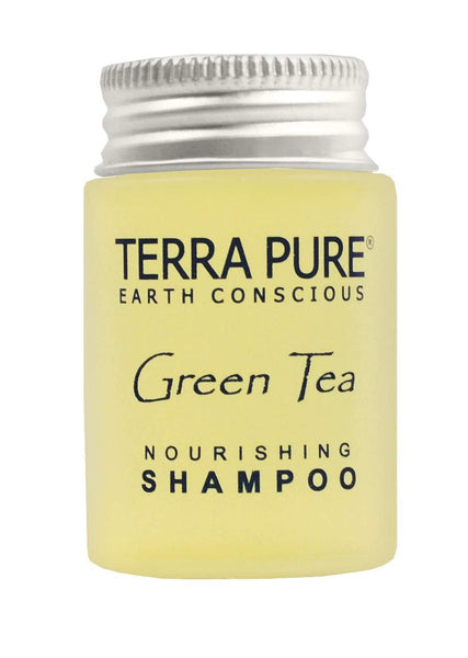 Terra Pure Shampoo, Travel Size Hotel Amenities, 1 oz. (Case of 20)