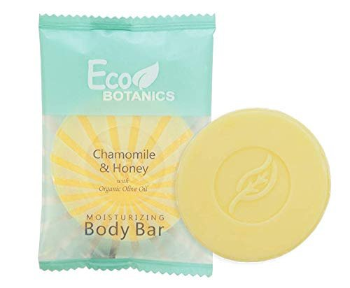Eco Botanics Travel-Size Hotel Body Bar Soap, 0.89 oz (Case of 50)