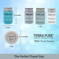 Terra Pure White Tea & Coconut Shampoo, Travel Size Hotel Amenities, 1 oz. (Case of 100)