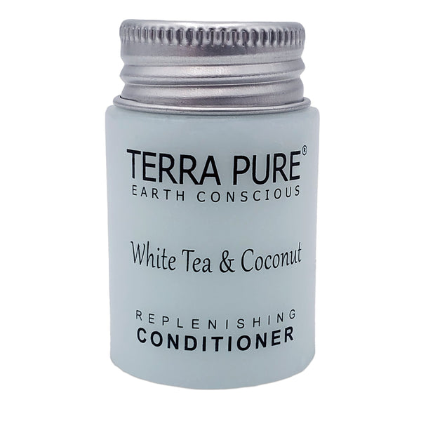 Terra Pure White Tea & Coconut Conditioner, Travel Size Hotel Amenities, 1 oz. (Case of 100)