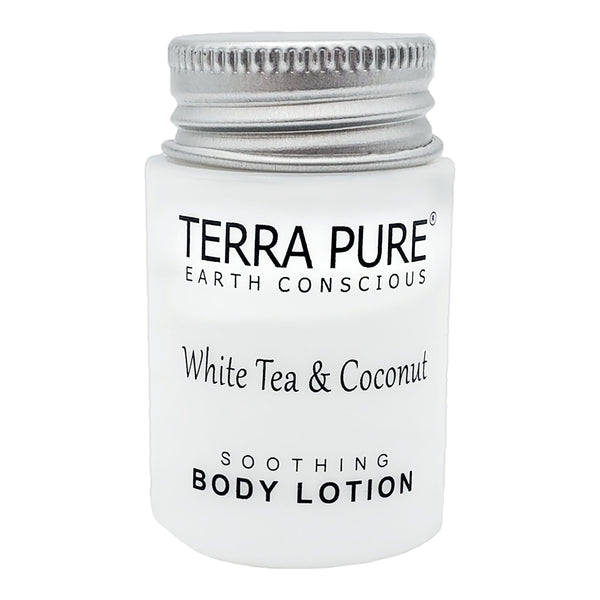 Terra Pure White Tea & Coconut Lotion, Travel Size Hotel Amenities, 1 oz. (Case of 300)
