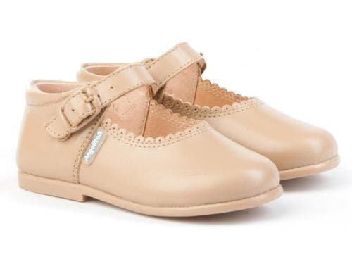 Angelitos Footwear Angelitos - Camel Leather Mary Jane Style Shoes