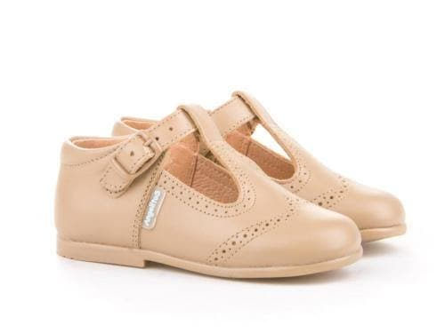 Angelitos Footwear Angelitos - Camel Leather T-Bars