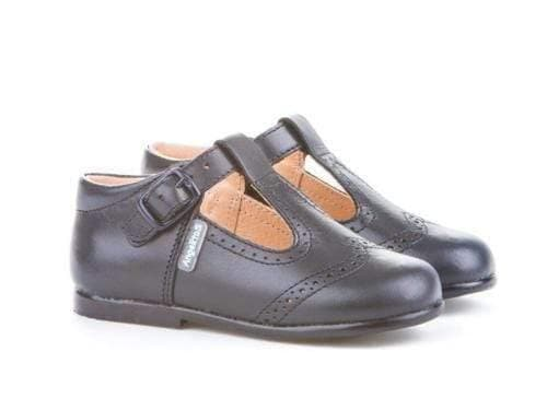 Angelitos Footwear Angelitos - Navy Leather T-Bar Shoes