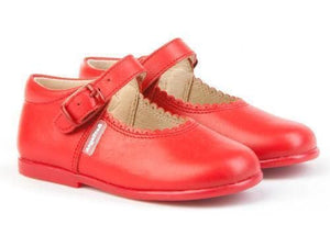 Angelitos Footwear Angelitos - Red Leather Mary Jane Style Shoes