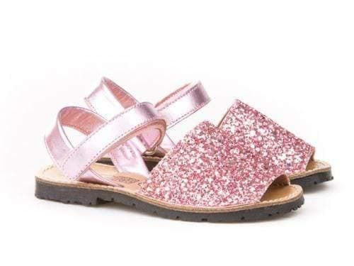 Angelitos Footwear EU 22 Angelitos - Rose Pink Glitter Sandals 203