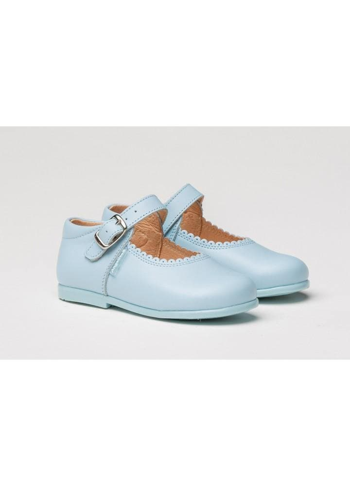 Angelitos Footwear EU 25 Angelitos Baby Blue Mary Jane Style Leather Shoes