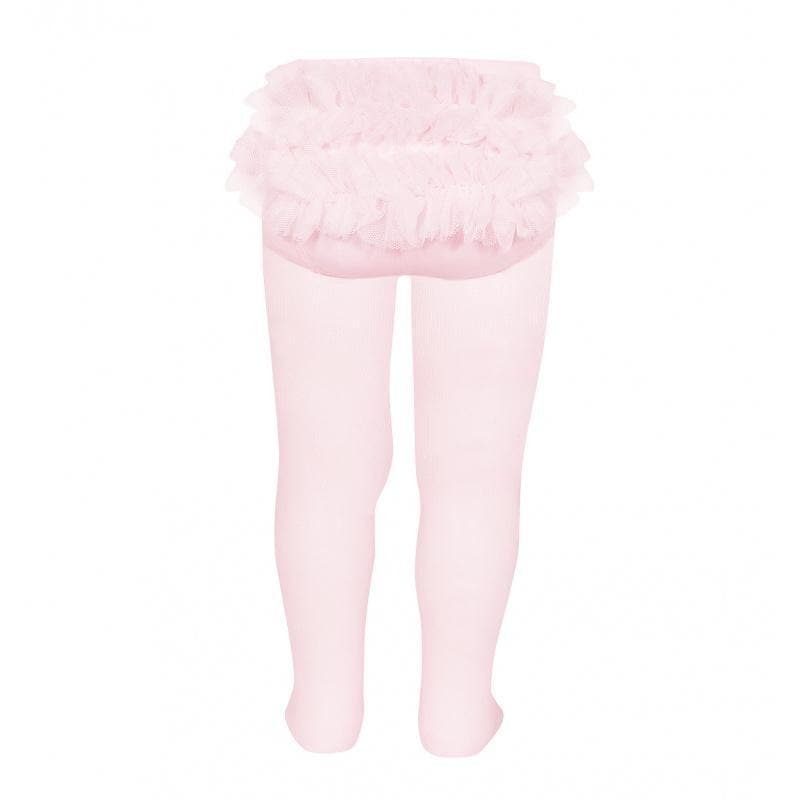 Condor Socks & Tights Condor AW20 - Ruffle Bum Tights White, Cream & Baby Pink