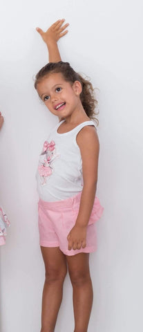 Cuka Baby Girls Dress Cuka SS21 - Baby Girls Pink & White Bunny Print Sleeveless Top with Jam Pants