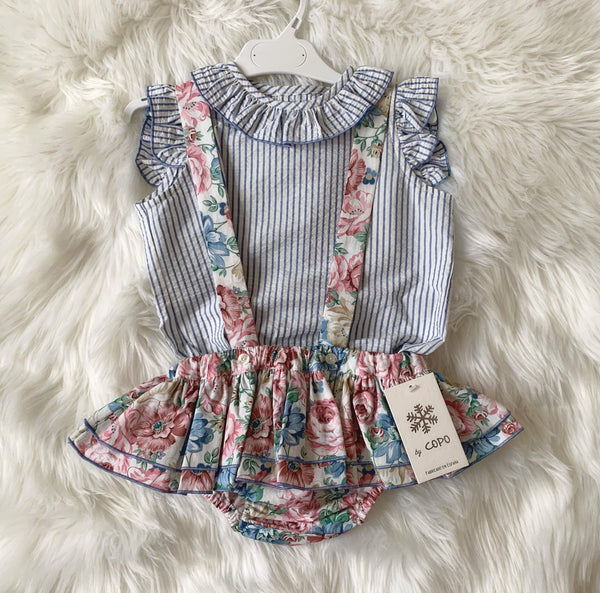 El Copo Girls Sets El Copo - Girls Floral Jam Pants and Blouse Set
