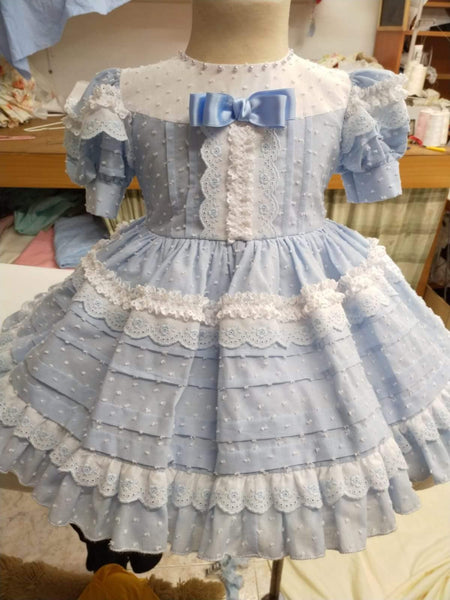 Exclusive Girls Dresses Exclusive - Made to Order Alice Baby Blue & White Dress SS20
