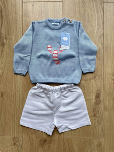 Mac Ilusion Baby Boys Mac Ilusion - Boys White Shorts with Blue Jumper