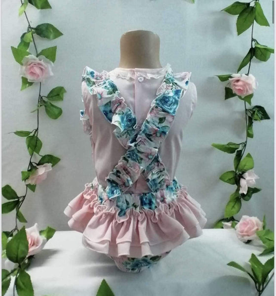 Maria Bardallo Baby Girls Dress SS21 Pre-Order - Brisa Floral Jam Pants Set