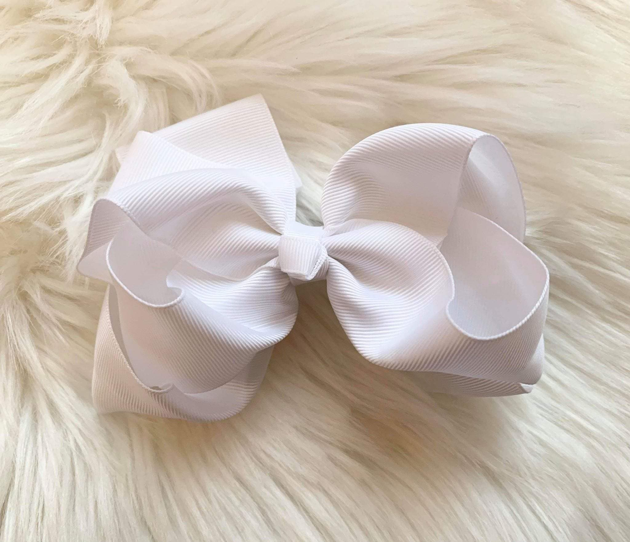 "Mariposa Children's Boutique Hairbow Hairbow 6"" White"