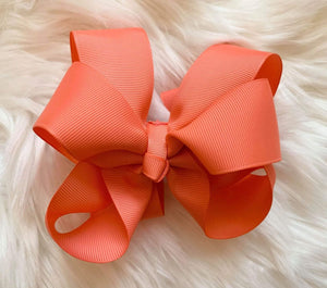 Mariposa Children's Boutique Hairbow Hairbow Coral 6""